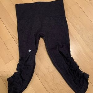 Navy Ruched Crop Lululemon Leggings